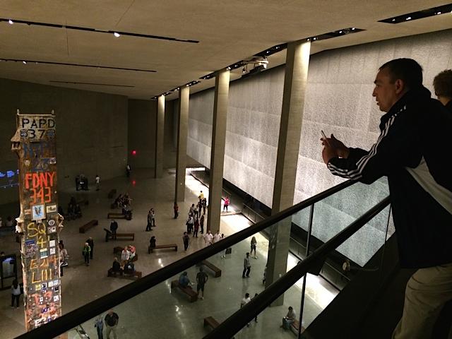 Größe des sieben Stockwerke tiefen Museums beeindruckt